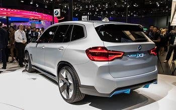 The BMW iX3 concept on display at the Beijing Auto Show in  Beijing, China on Wednesday 25 April 2018.