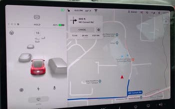 Tesla actualiza la interfaz de visualización del Model 3 con mayor detalle