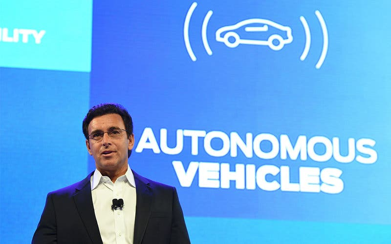 El presidente y CEO de Ford Motor, Mark Fields, en el CES 2016 de Las Vegas.