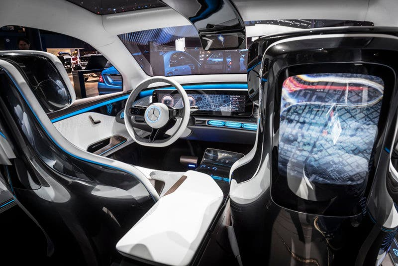 "Mercedes-Benz auf der ""Mondial de l'Automobile 2016"", Interieur, Generation EQ ;Mercedes-Benz at"