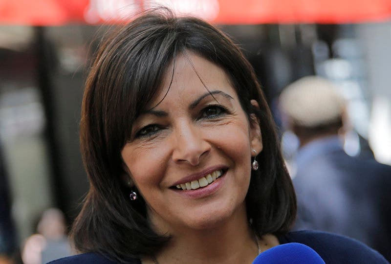 Socialist candidate for the election for the mayor of Paris, Anne Hidalgo, poses during a campaign meeting, in Paris, Tuesday, June 4, 2013 ahead of the March 2014 election. (AP Photo/Francois Mori)