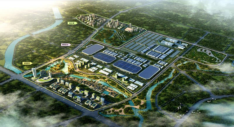 Rendering of GAC Motorís planned industrial park for electric and intelligent vehicles (PRNewsfoto/GAC MOTOR)