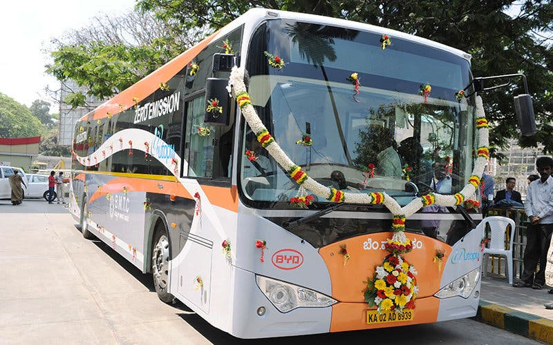BMTC  launches Indiaís First Electric Bus at BMTC Central Office in Bangalore on Sunday 2nd March 2014.