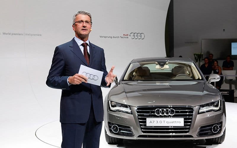 El presidente de Audi, investigado por el escándalo de las emisiones diésel. Rupert Stadler, Chairman of the Board of Management AUDI AG at the World Premier of the new Audi A7 Sportback in Munich.