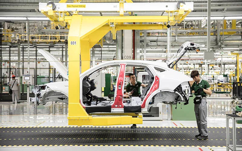 La planta de Chery Jaguar Land Rover Automotive en Changshu, China.