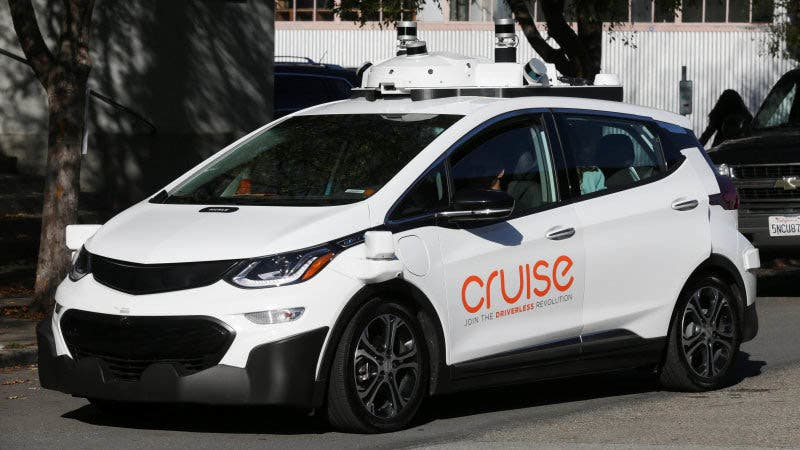 A self-driving GM Bolt EV is seen during a media event where Cruise, GM's autonomous car unit, showed off its self-driving cars in San Francisco, California, U.S. November 28, 2017. REUTERS/Elijah Nouvelage