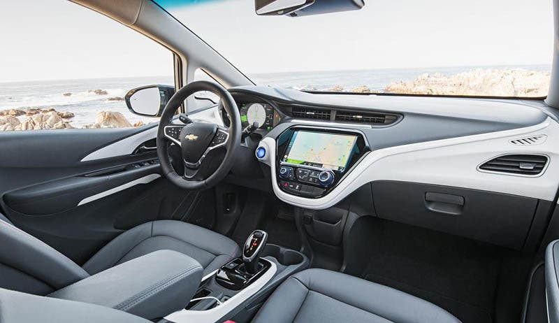 Interior del Chevrolet Bolt