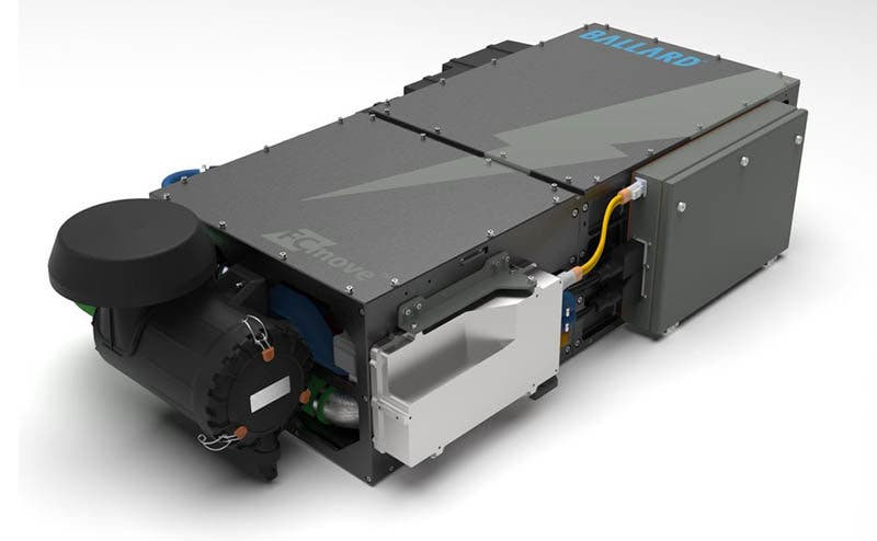 Ballard...s new FCmove...-HD high performance fuel cell module for buses is shown above ... the FCmove... family of products is designed to power Heavy Duty Motive applications including buses, commercial trucks and trains. (CNW Group/Ballard Power Systems Inc.)