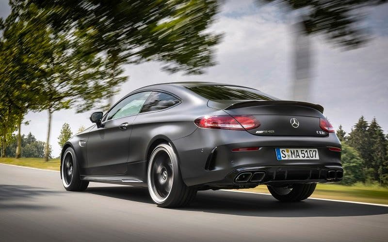 Mercedes-AMG C 63 S Coupé; designo graphitgrau; AMG Leder Nappa zweifarbig magmagrau/schwarz;C 63/ C 63 S: Kraftstoffverbrauch kombiniert: 10,1 l/100 km; CO2-Emissionen kombiniert: 230 g/km*  Mercedes-AMG C 63 S Coupe; designo graphite grey magno; AMG nappa leather two-tone magma grey/black;C 63/ C 63 S: Fuel consumption combined: 10.1 l/100 km; Combined CO2 emissions: 230 g/km*