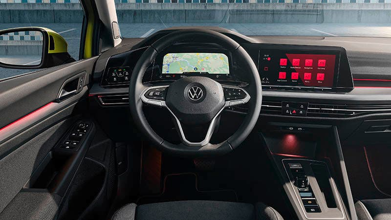 Interior del Volkswagen Golf 8