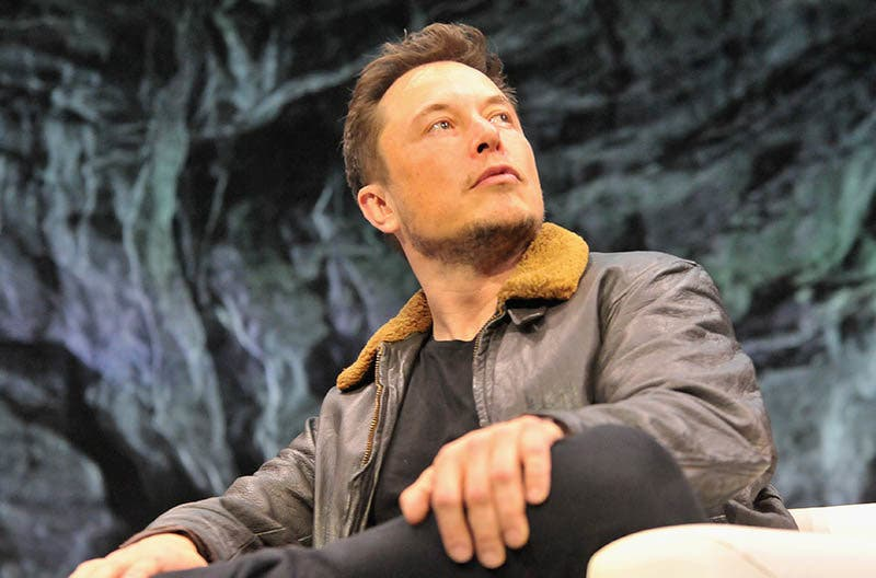 AUSTIN, TX - MARCH 11:  Elon Musk speaks onstage at Elon Musk Answers Your Questions! during SXSW at ACL Live on March 11, 2018 in Austin, Texas.  (Photo by Chris Saucedo/Getty Images for SXSW)